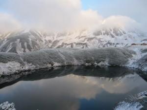ミクリガ池も氷なし